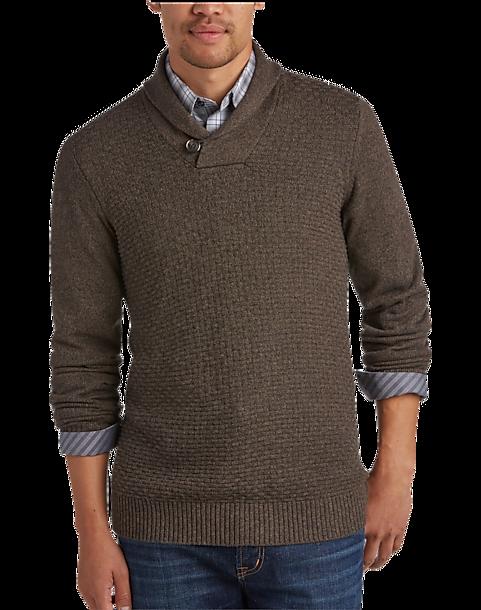 e6170c623228 Joseph Abboud Bark Shawl-Collar Sweater - Men s Sweaters