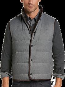 f428b933d01 Mens Clearance - Joseph Abboud Gray Paisley Modern Fit Reversible Vest - Men s  Wearhouse