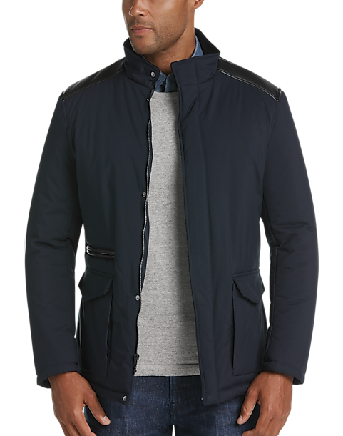 Pronto Uomo Navy Quilted Jacket