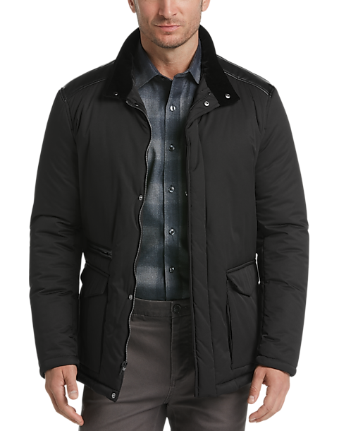 13d0163d15a8 Pronto Uomo Black Quilted Jacket - Mens Home - Men s Wearhouse