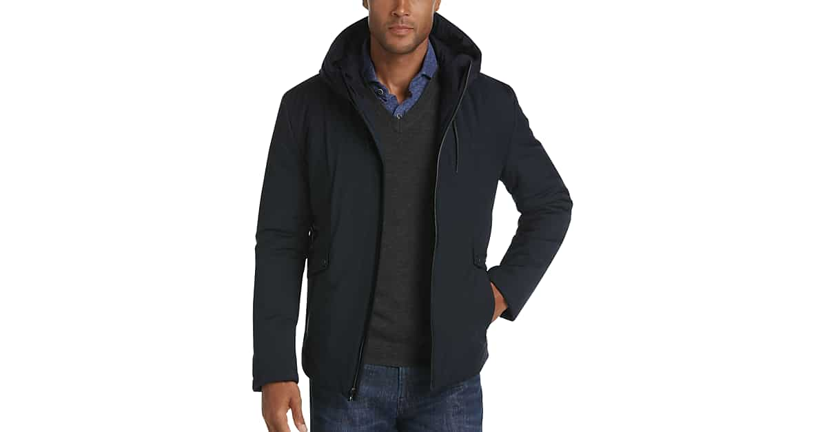 5df2e9c83d6a Pronto Uomo Navy Hoodie Jacket - Men's Black Friday Shop All | Men's  Wearhouse