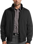 DKNY Modern Fit Bomber Men's Jacket (Black)