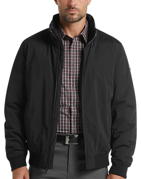 DKNY Modern Fit Bomber Jacket (Black)