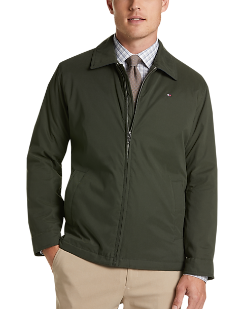 Tommy Hilfiger Green Modern Fit Microtwill Casual Jacket