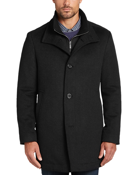 Black Tic Classic Fit Car Coat