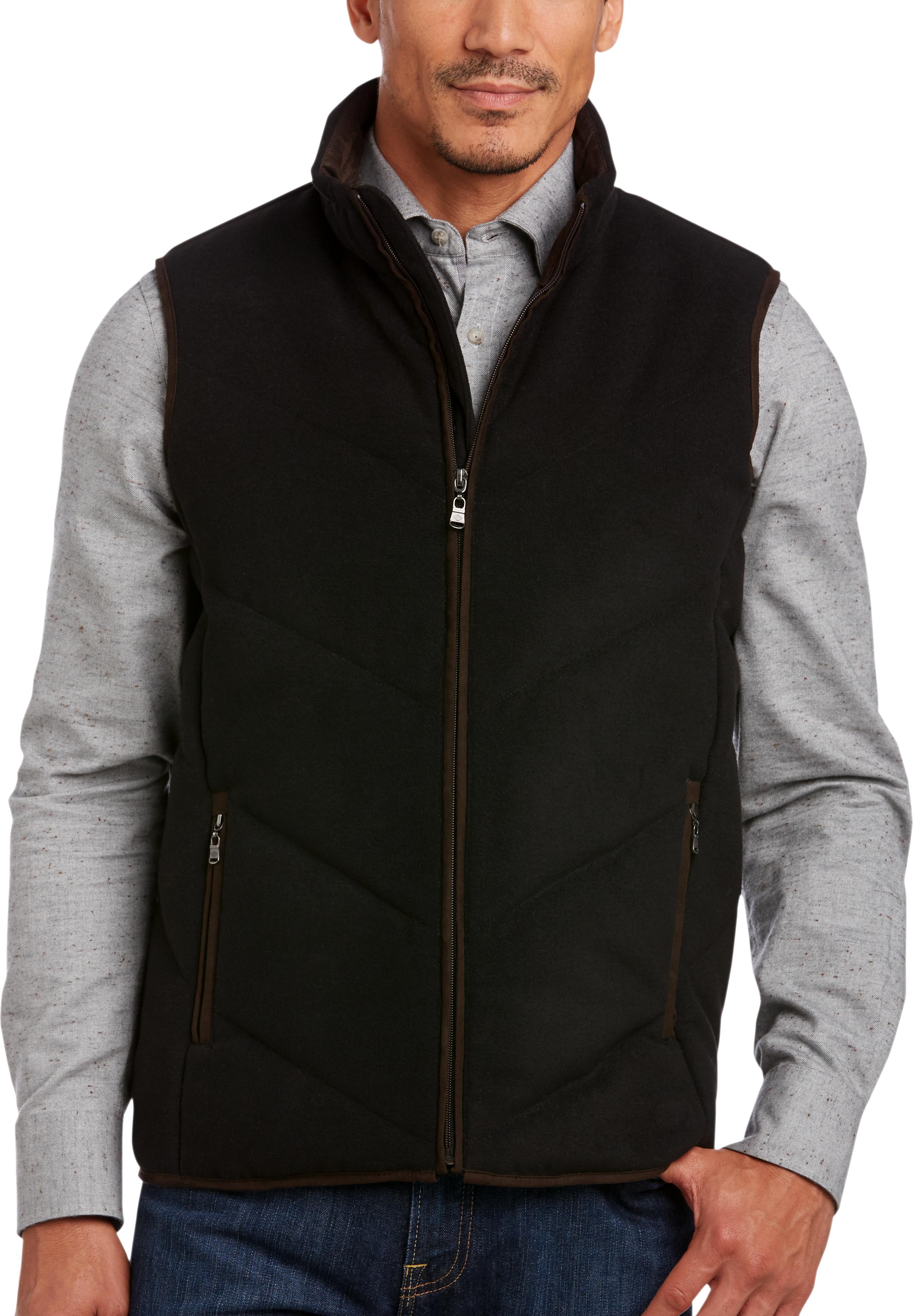 Joseph Abboud Black Modern Fit Vest (Black)