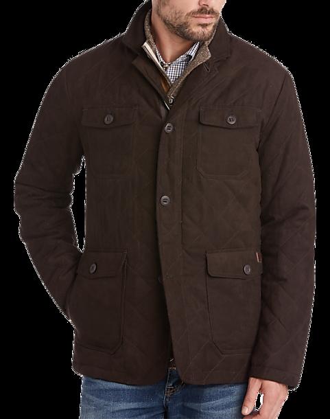 Joseph Abboud Dark Brown Modern Fit Faux Suede Jacket Men S