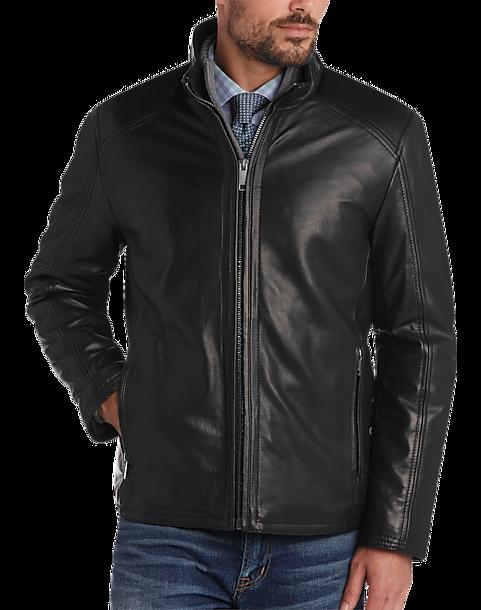 Marc New York Black Modern Fit Lambskin Leather Jacket - Men's ...
