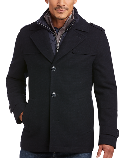 Egara Navy Modern Fit Car Coat Men S Casual Jackets Men S