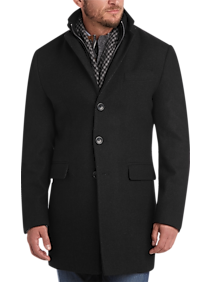 Egara Charcoal Slim Fit Topcoat (Charc Multi Stripe)