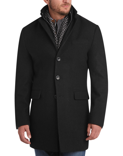 Egara Charcoal Slim Fit Topcoat - Men's Topcoats | Men's Wearhouse