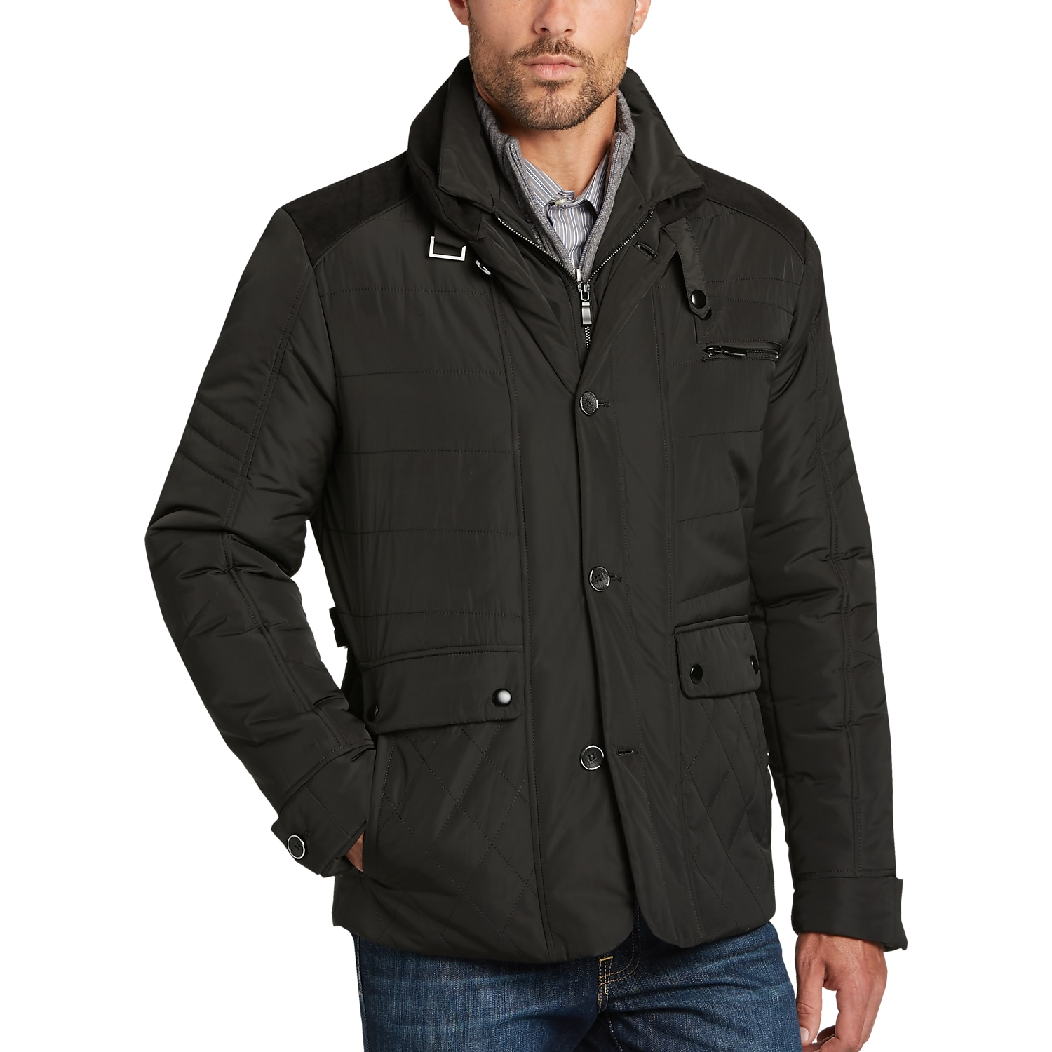 Mens Casual Jackets. Outerwear comes in a variety of different styles and designs to meet his needs. Men's casual jackets allow him to show off his own personality .