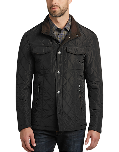 Pronto Uomo Black Quilted Modern Fit Jacket - Men's Casual Jackets ...
