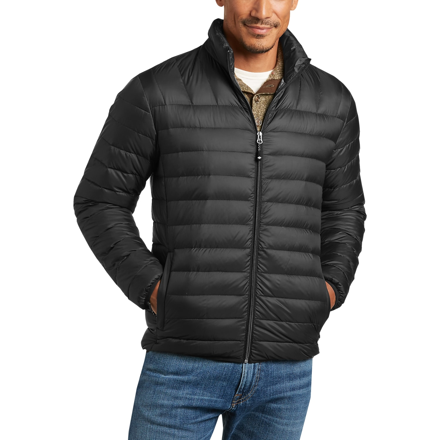 Joseph Abboud Black Modern Fit Packable Jacket - Men's Casual ...