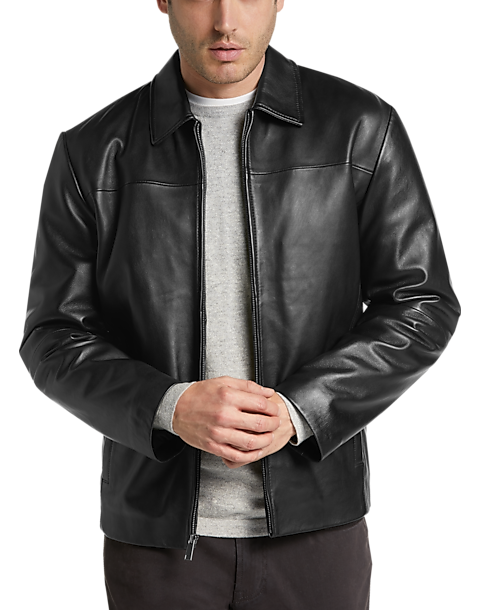 Pronto Uomo Black Leather Jacket by Mens Wearhouse