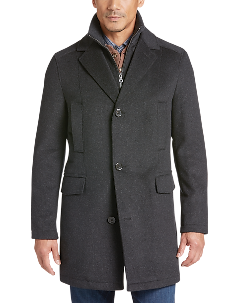 Pronto Uomo Charcoal Birdseye Modern Fit Car Coat Men S Casual