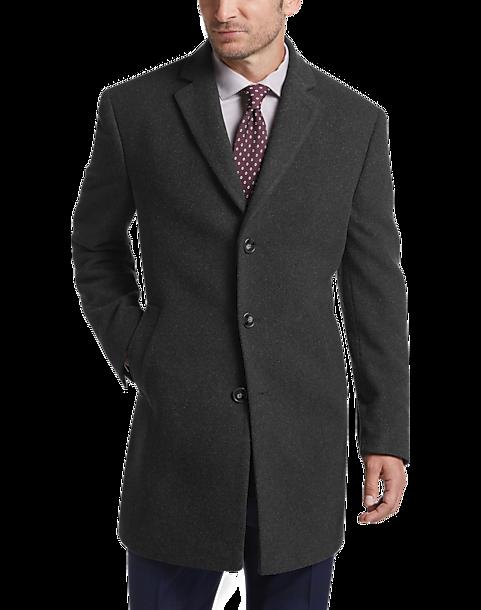 9c7e9a5c6df Calvin Klein Charcoal Topcoat - Men's Outerwear | Men's Wearhouse
