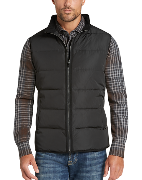 Pronto Uomo Black & Gray Modern Fit Quilted Vest - Men's | Men's ... : black quilted vest - Adamdwight.com