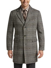 ba6433ca7 Mens Midnight Madness Extra 40% Off Clearance, Outerwear - Joseph Abboud  Brown Plaid Modern