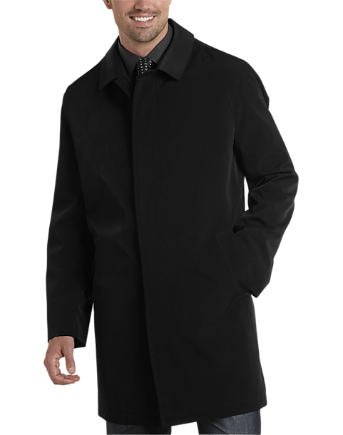e5f0389795b1 Black Classic Fit Raincoat - Men's Outerwear - Joseph Abboud | Men's ...