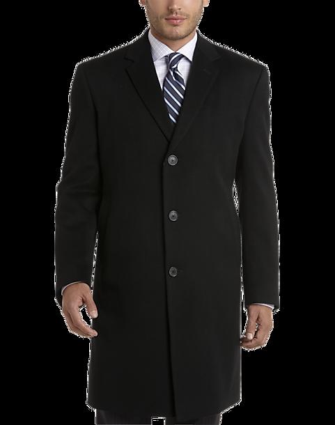 0b63b51c0 Joseph Abboud White Label 100% Cashmere Modern Fit Topcoat, Black