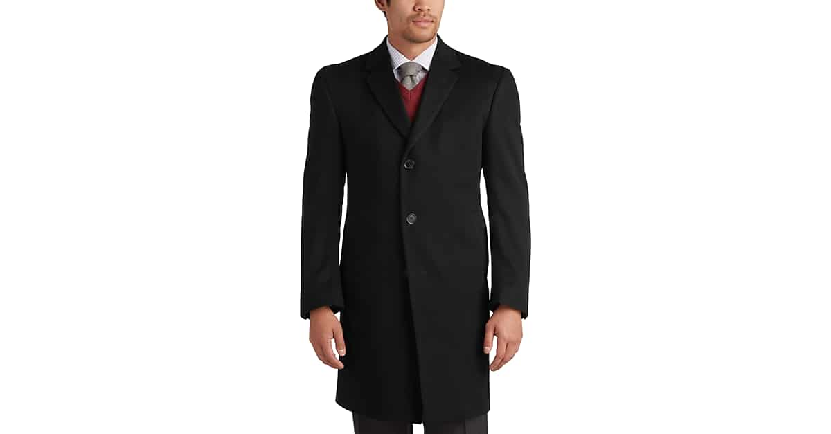 a676676abb4 Joseph Abboud Charcoal Gray Cashmere Modern Fit Topcoat - Men s Outerwear