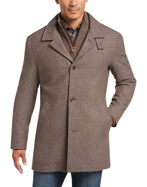 Joseph Abboud Tan Modern Fit Twill Car Coat Men S Casual Jackets