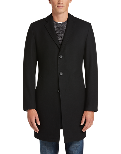 Awearness Kenneth Cole AWEAR-TECH Black Topcoat