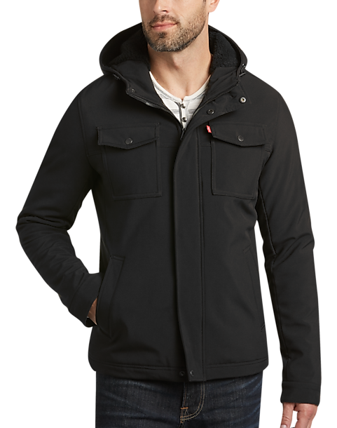 Levi's® Black Modern Fit Trucker Jacket - Men's Casual Jackets ...