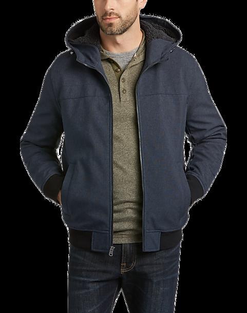 Levi's® Navy Soft Shell Bomber Jacket - Men's Casual Jackets ...