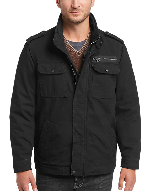 Levi's® Black Modern Fit Field Jacket - Men's Casual Jackets ...
