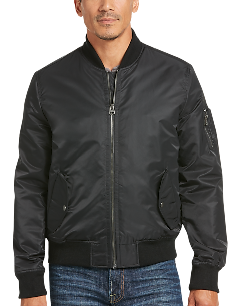 Levi's® Black Flight Bomber Jacket - Men's Casual Jackets   Men's ...