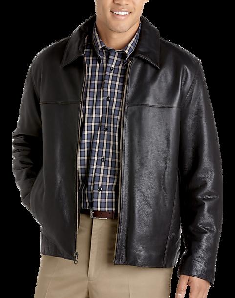 5cf3afd3b Marc New York Black Leather Jacket - Men s Big   Tall
