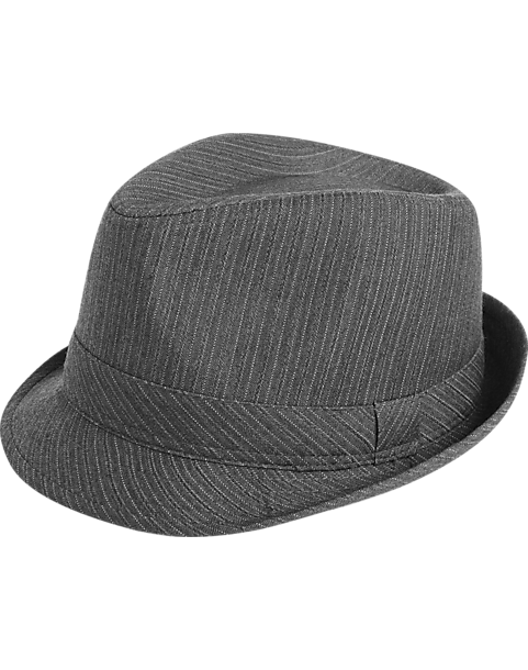 London Fog Gray Multistripe Fedora - Men s  8e00f3281d6