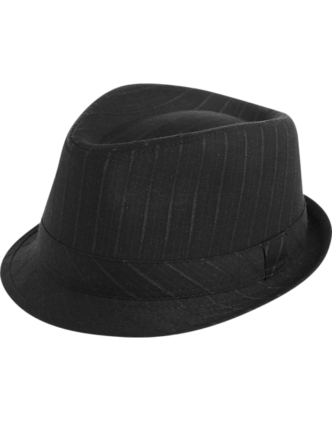 7f6b065aa Free Authority Black Tonal Stripe Fedora - Men's Accessories | Men's ...