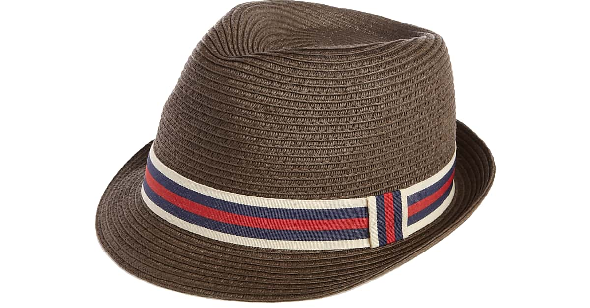 London Fog Brown Paper Fedora - Men s  3d9c0b46905