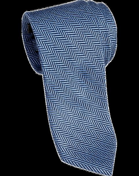 65918b864 Esquire Blue Herringbone Narrow Tie - Men s Accessories
