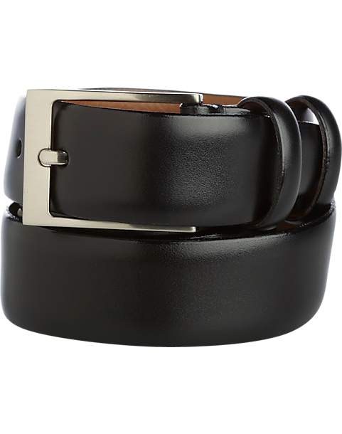 59035d0e211 Men s Wearhouse Black Double Loop Leather Belt - Men s Accessories ...