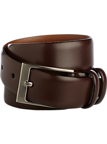 Brown Double Loop Leather Belt