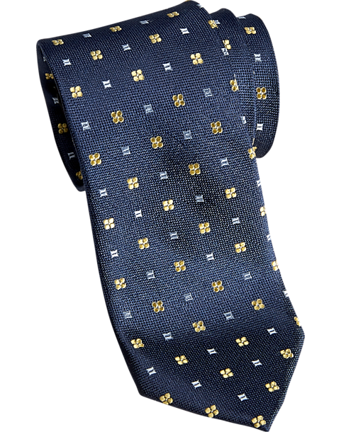 a8fdd9df1be1 Esquire Blue   Yellow Floral Geometric Skinny Tie - Men s