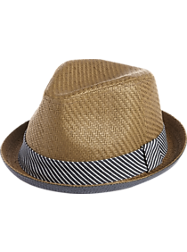 fc05b087dee Free Authority Brown and Blue Paper Porkpie Hat