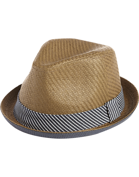 fcc81c75362 Free Authority Brown and Blue Paper Porkpie Hat - Men s