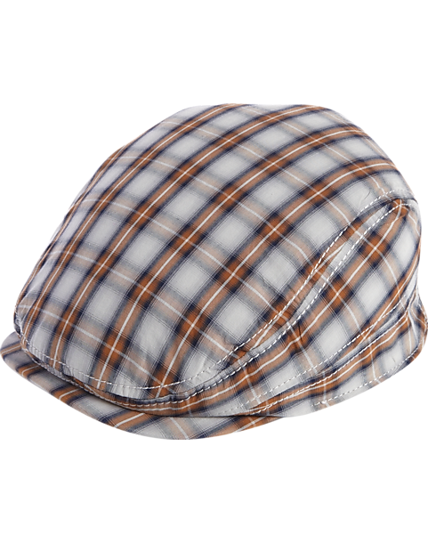 Free Authority Gray and Blue Plaid Ivy Cap - Men s  131a7b6863a