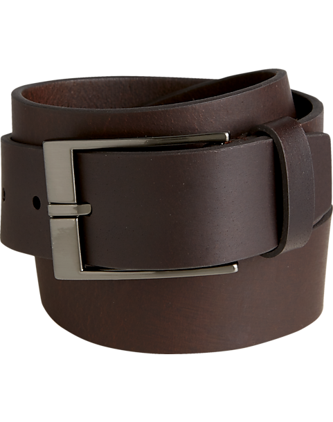 79697e0b81f4d Joseph Abboud Brown Cut-Edge Belt - Mens Home - Men s Wearhouse