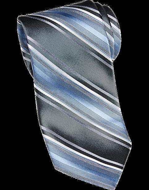83b7dcfb0523 Awearness Kenneth Cole Blue Stripe Narrow Tie - Men's Accessories ...