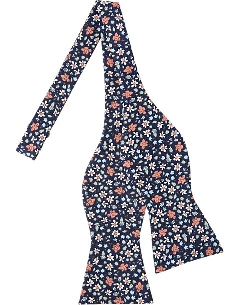 1a011a662 Tommy Hilfiger Navy Floral Bow Tie - Men's Accessories | Men's Wearhouse