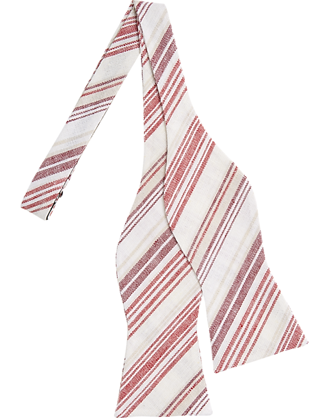 7b22cb9ee Tommy Hilfiger Red Stripe Bow Tie - Men's Accessories | Men's Wearhouse