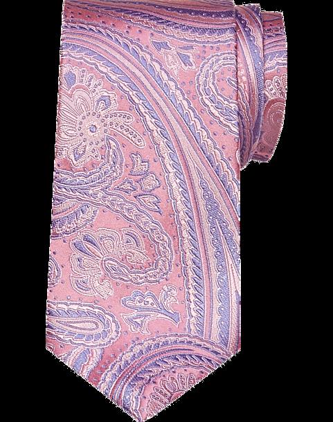 5084b94de97b Pronto Uomo Pink & Blue Paisley Narrow Tie - Men's Accessories ...