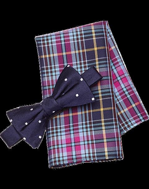 0f608f844ab7 Tommy Hilfiger Navy Dot Bow Tie & Pocket Square Set - Men's Bow Ties ...