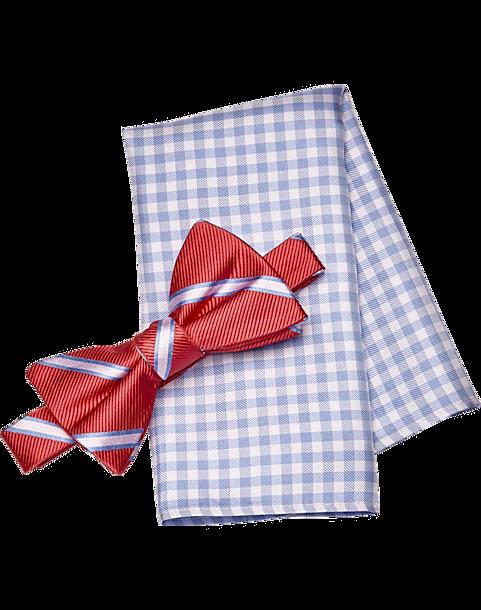 744d65abd7dd Tommy Hilfiger Coral Bow Tie & Pocket Square Set - Men's ...